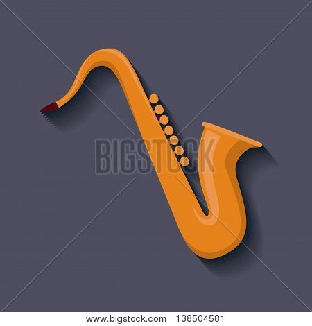 saxophone instrument isolated icon design, vector illustration  graphic