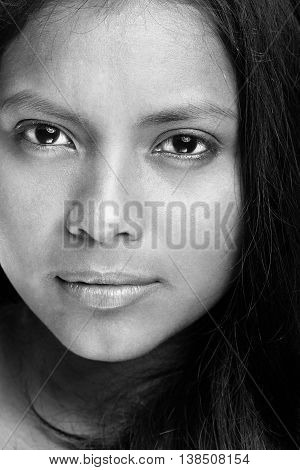 Close Up Of Woman Face