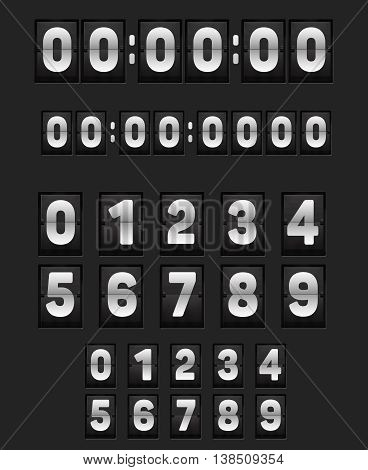 Wall Flipping Clock And Set Of Numbers.