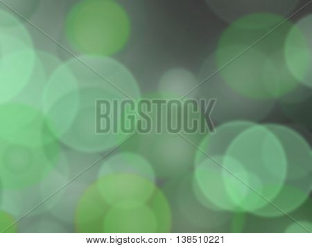 colorful background in green colors the bokeh effect