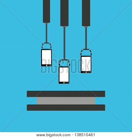 robot technolgy machine, industry icon, vector illustration