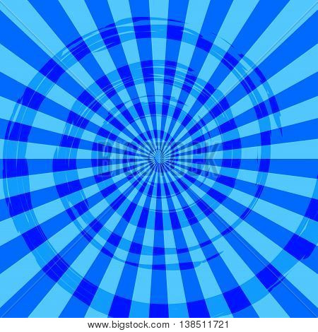Abstract Burst Ray Background Blue