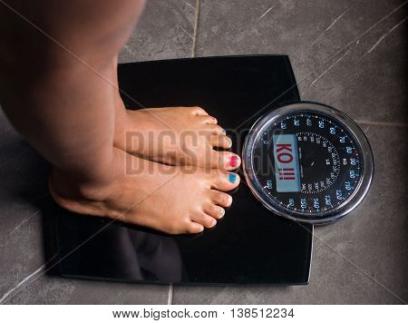 the bathroom scales that speaks to you and tells you the truth by writing it on the screen: ko!
