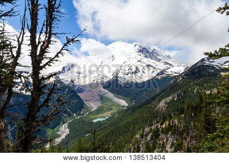 Mount Rainier from Emmons Vista, Sunrise, Mt Rainier National Park, Washington