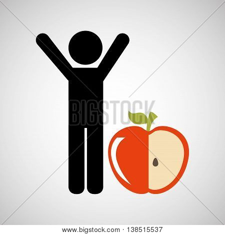 person whit healthy life style, vector illustration