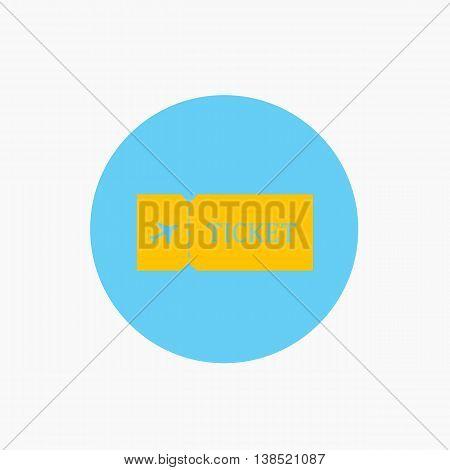 Blank ticket plane icon. Travel symbol. Flat Vector illustration