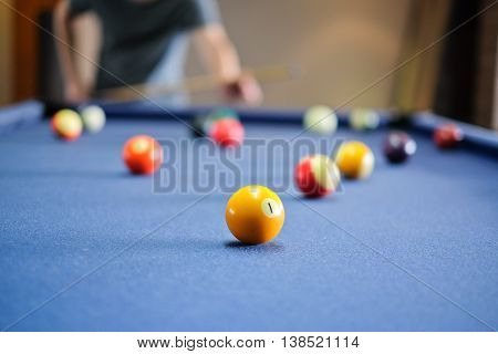 Snooker ball on snooker table,  game on  table, International sport