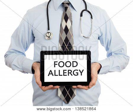Doctor Holding Tablet - Food Allergy