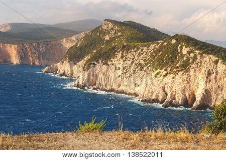 Dukatos Cape, Lefkada,  Ionian Island, Greece. View from Lighthouse
