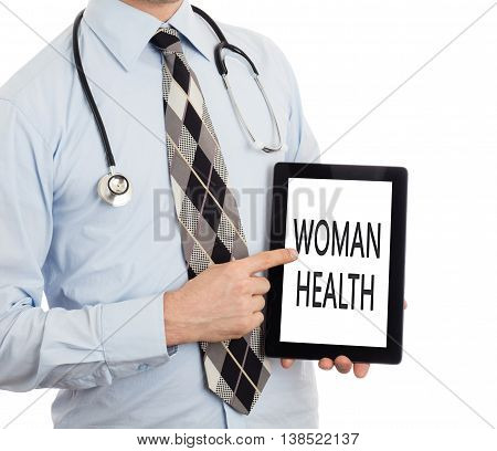 Doctor Holding Tablet - Woman Health