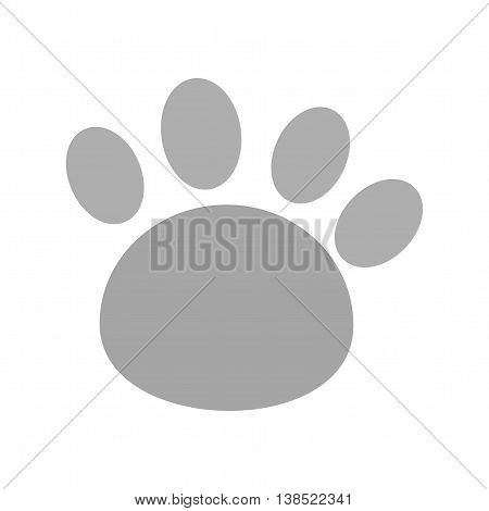 Paw, toe, animal icon vector image. Can also be used for pet shop. Suitable for use on web apps, mobile apps and print media.