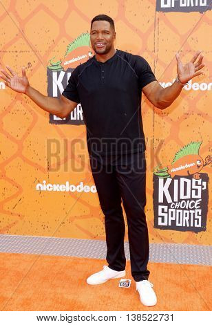 Michael Strahan at the Nickelodeon Kids' Choice Sports Awards 2016 held at the UCLA's Pauley Pavilion in Westwood, USA on July 14, 2016.