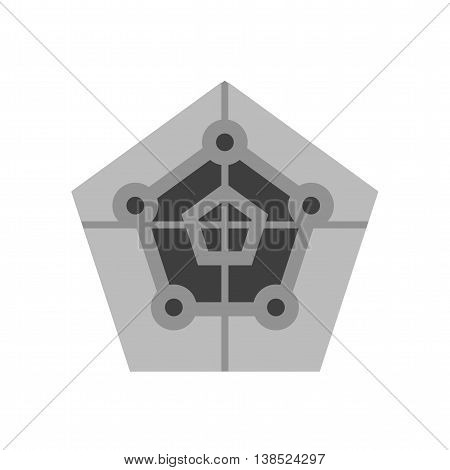 Radar, screen, map icon vector image. Can also be used for infographics. Suitable for web apps, mobile apps and print media.