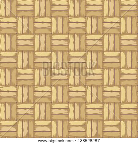 Rattan striped textured background. Wicker pattern. Vector samless pattern.