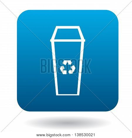 Recycle bin icon in simple style on a white background