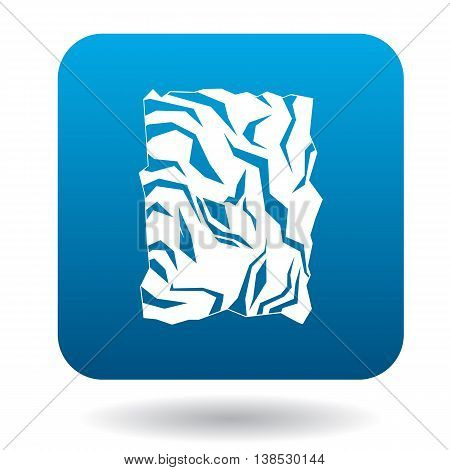 Crumpled paper icon in simple style on a white background