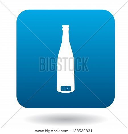 An empty wine bottle icon in simple style on a white background