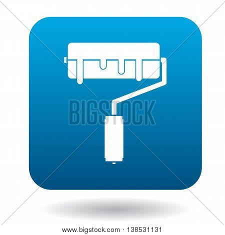 Paint roller icon in simple style on a white background