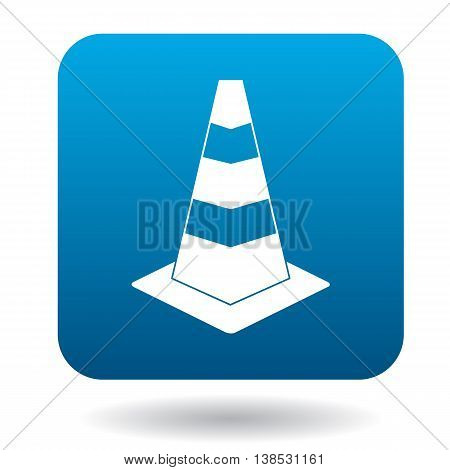 Traffic cone icon in simple style on a white background