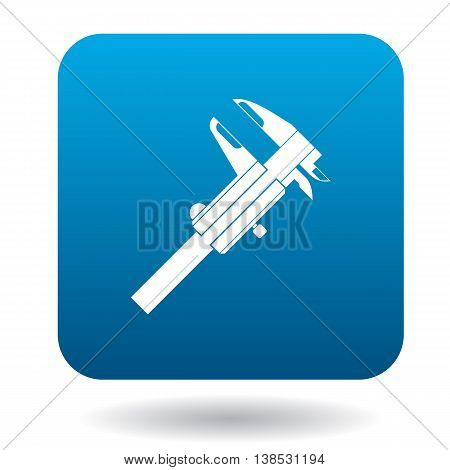 Calipers tool icon in simple style on a white background