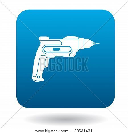 Hand drill icon in simple style on a white background