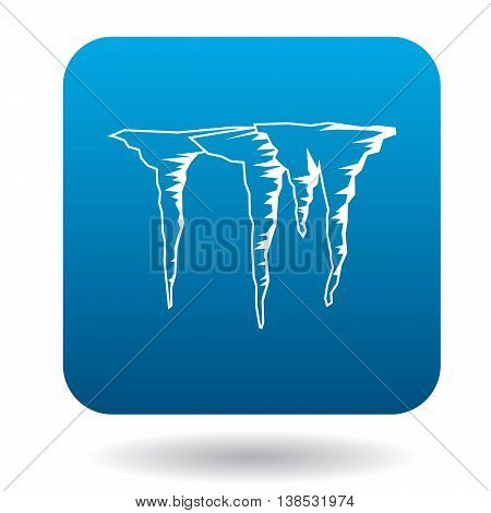 Icicles icon in simple style on a white background