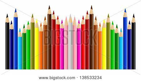 Beautiful Multicolored Crayons