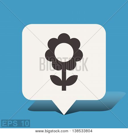 Pictograph of flower. Vector concept illustration for design. Eps 10