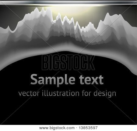Bullet Hole and Slash at metal abstract background for techno design. eps 10