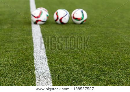 Greek Superleague Ball On The Field