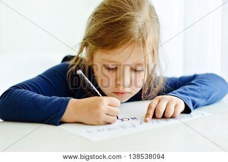 Girl Is Writting