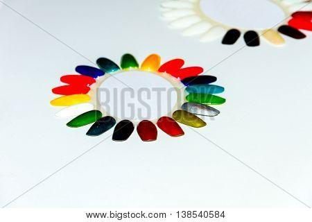 Colorful Nail Polishes.