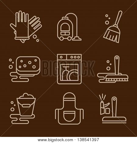 Simple set of cleaning related icons for your design