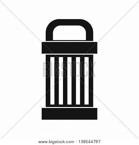 Trash icon in simple style. Garbage symbol isolated vector illustration