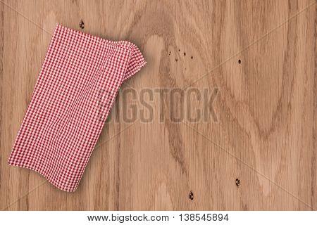 cloth napkin on wooden background. cloth napkin on wooden background.