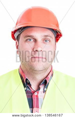 Portrait Of Serious Builder Or Constructor