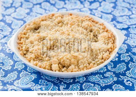 Crumble With Rhubarb And Apple