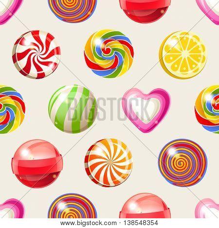 bright lollipop seamless pattern