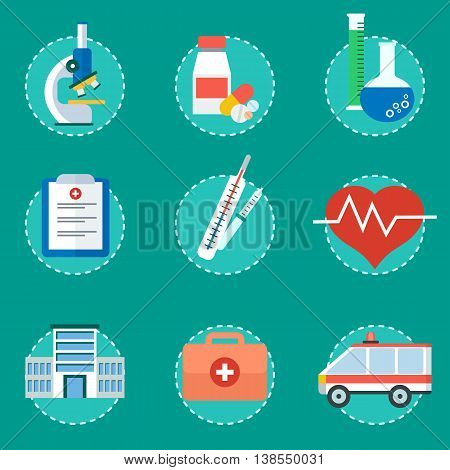 Medical Concept Set Of Icons