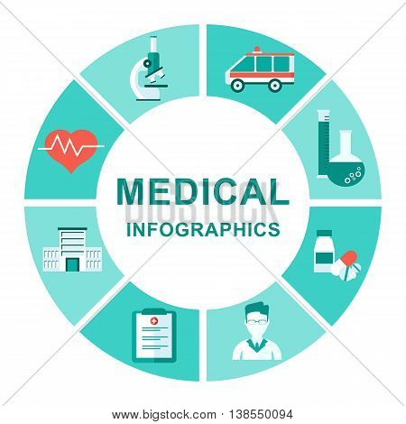 Medical Infographics Diagram