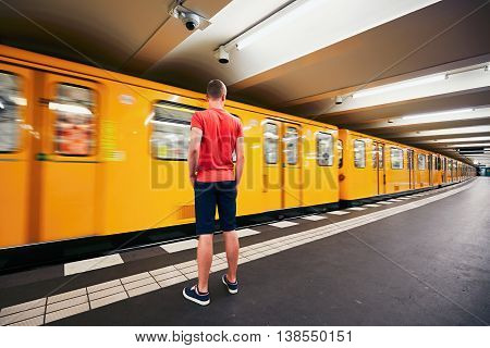 Traffic In Subway