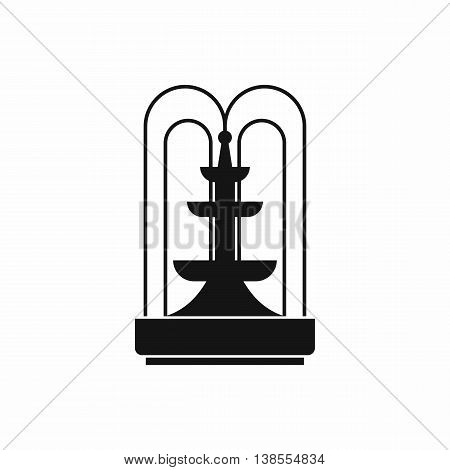 Fountain icon in simple style. Water source symbol isolated vector illustration