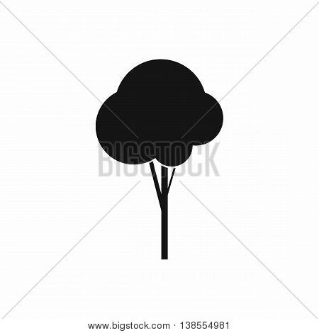 Fluffy tree icon in simple style. Plants and nature symbol isolated vector illustration