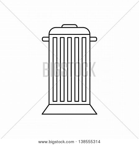 Street trash icon in outline style. Garbage symbol isolated vector illustration