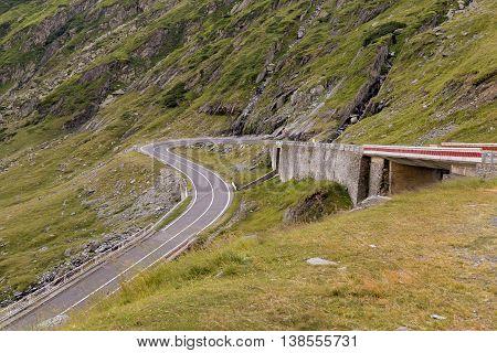 Mountain road. Summer landscape of Transfagarasan highway