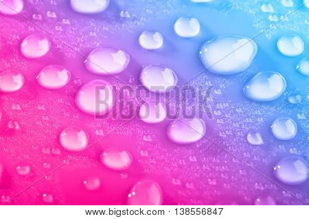 Background Of Close Up Beautiful Water Drops