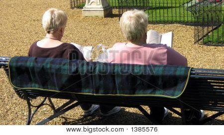 Women Relaxing,Sitting,&  Reading Books/Novels In The Sun