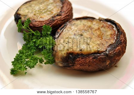 Appetizer of Cheesy Stuffed Portabella Mushroom Appetizers