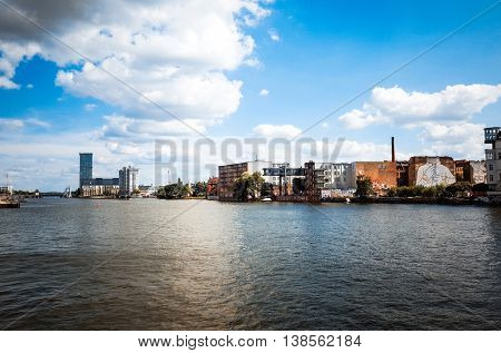 Street view in Berlin with a population of approximately 3.5 million people.