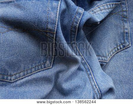 Tessuto in cotone, pantalone di jeans, colore azzurro